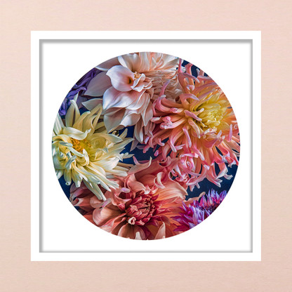 ''Sea of Dreams'' Dahlia artwork framed
