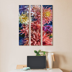 Coral Dahilas - 3 piece canvas triptych