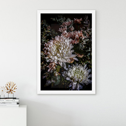 ''Chrysanthemum 1'' vertical box framed art print