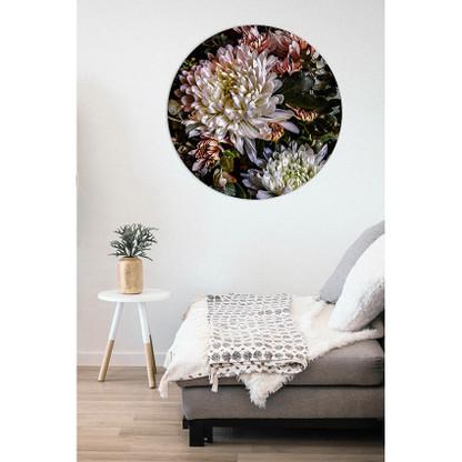 """""""Chrysanthemum  1 '' circular aluminium wall art"""