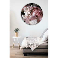 """Peony2'' - 500 to 1200mm dia. aluminium or glass circular outdoor / indoor art"