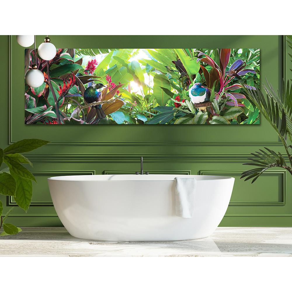 TROPICAL PARADISE''   Tropical NZ Tui / Wood Pigeon Art canvas ...