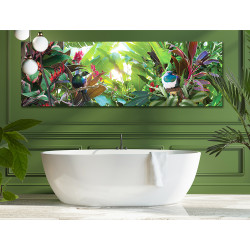 ''Tropical Paradise'' bathroom canvas