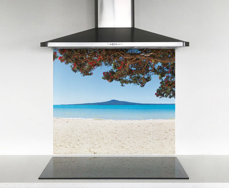 900x750mm DIY glass splashback Kohi Paradise 2 (Rangitoto)