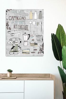 600x750mm glass wall art - hand drawn kitchen design
