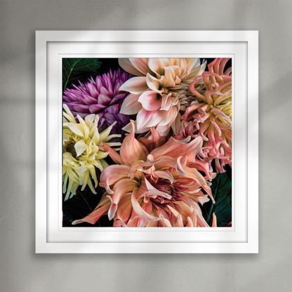 ''Fantasy'' beautiful Dahlia flower art print