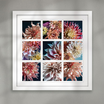 ''A second in time'' flower collage art print