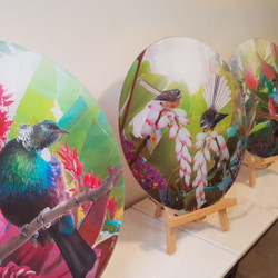 Circular acrylic artworks - choose from 27 different artworks