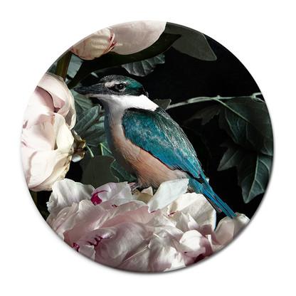 NZ Kingfisher in Peony tile