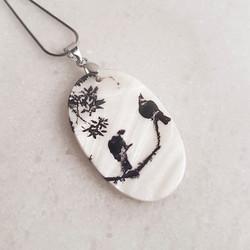 Tui birds necklace
