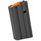 Ammunition Storage Components, Magazine, 223 Rem, Fits AR-15, 20Rd, Stainless, Black, Orange Follower