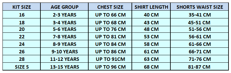 Size Chart Guide