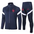 Kids France 2020-21 Navy Blue Track Suit
