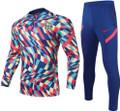 Adult Barcelona 2021-22 Multicoloured Football Soccer Tech Training Suit