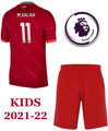 Kids Liverpool 2021-22 Home Football Kit With Free Name & Number