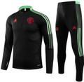 Kids Manu 2021-22 Black Football Soccer Tech Training Suit