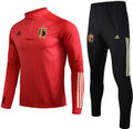 Kids 2021-22 Belgium Red Soccer Football Tech Training Suit