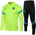 Kids Inter Milan 2021-22 Green Soccer Football Tech Training Suit