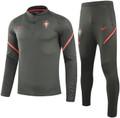 Kids Portugal 2021-22 Grey Soccer Football Tech Training Suit
