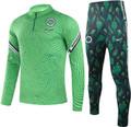 Kids Nigeria 2021-22 Light Green Soccer Football Tech Training Suit