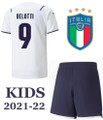 Kids Italy 2021-22 Away Football Kit Soccer Kit With Free Name&Number
