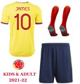 Kids Columbia 2021-22 Home Football Kit Soccer Kit With Free Name&Number