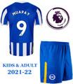 Kids Brighton 2021-22 Home Football Kit Soccer Kit With Free Name&Number