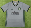 Adult Portland Timbers 2021-22 Grey Football Shirt Soccer Jersey With Free Name & Number