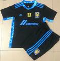 Kids Tigres U.A.N.L. 2021-22 Goalkeeper Soccer Football Kit With Free Name&Number