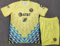 Kids Club América 2021-22 Home Football Soccer Kit With Free Name & Number