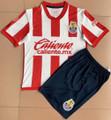 Kids 2021-22 Chivas Guadalajara 115TH Anniversary Football Kit With Free Name&Number