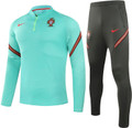 Adult Portugal 2021-22 Green Technical Training Suit