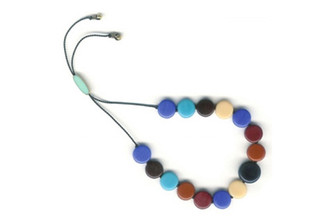 MULTI-DISKS BRACELET IN BLUE by I. Ronni Kappos (IRK Jewelry)