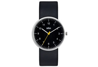 BRAUN MENS ANALOG WATCH amei-bn21bkbkg