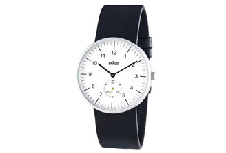 BRAUN MENS ANALOG WATCH amei-bn24whbkg