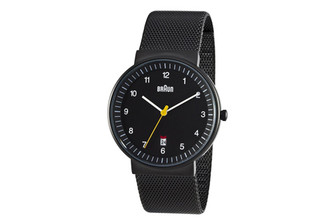 BRAUN MENS ANALOG WATCH amei-bn32bkbkmhg