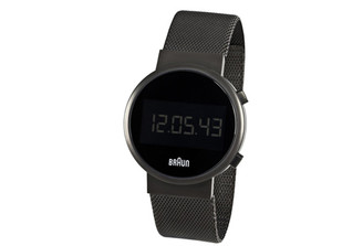 BRAUN MENS ROUND DIGITAL WATCH
