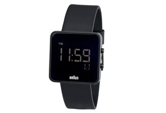 BRAUN MENS SQUARE DIGITAL WATCH