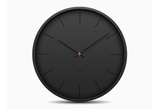 LEFF TONE 35 WALL CLOCK (Black) design by Wiebe Teertstra