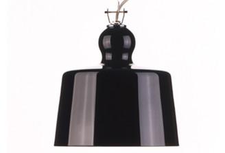 ACQUATINTA SUSPENDED LAMP - BLACK MURANO GLASS design by Michele DeLucchi