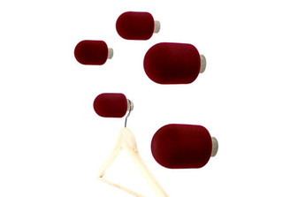 Micro Coat Hooks Red (Set of 5) by Big-Game