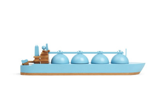 Wooden Boat Arctic Princess Blue by Papa Foxtrot