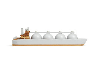 Wooden Boat Arctic Princess Grey by Papa Foxtrot