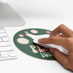 POKETO CIRCULAR PEACE MOUSEPAD