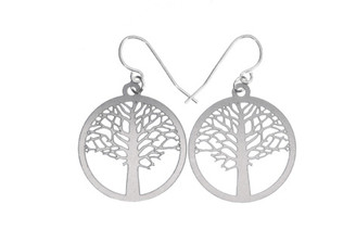 POLLI ELM STAINLESS STEEL EARRINGS- SMALL