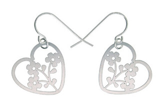 POLLI STAINLESS STEEL HEART (POSY) EARRINGS