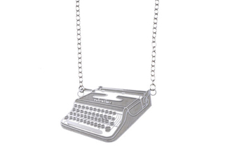 Polli Stainless Steel Typewriter Necklace