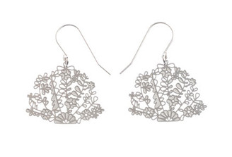 POLLI STAINLESS STEEL MEXICAN FLORAL EARRINGS (Small)