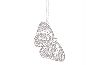 POLLI STAINLESS STEEL BUTTERFLY PENDANT (large)