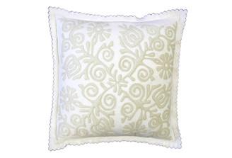 Sandor Applique Siófok pillow - Shell White on White